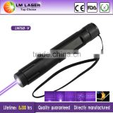 Cheap 100mw 405nm purple Laser Pointer Blue Violet Focusable Flashlight Pen for Sale with 5 Pattern Heads Rechargeable Battery