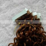 "Hot selling factory price 20"" body wave Brazilian virgin hair tape weft ,accept escrow"