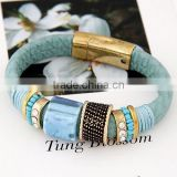In stock marvelous gorgeous delicate leather bracelet wholesale, leather bracelet for women, cheap leather bracelets