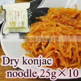 Wholesale konjac dried noodles high quality Dried shirataki konjac noodle 25g x 10 portions