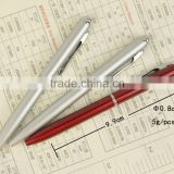Factory supply slim metal twist ballpoint pen metal ball pen