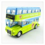 YLBU01 pull back double decker diecast metal bus toy