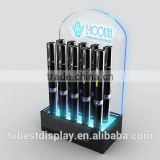 beautiful LED illuminated acrylic flashlight display stand with logo