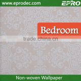 Marble Printed non-woven material free design wall fashion wallpaper from china wallpaper factory
