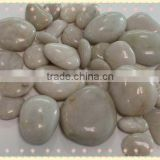good quality white polished pebble stone