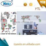 2015 Popular Baby's Room World Map Printing Wall Sticker
