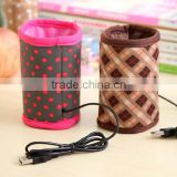 Hot Drink Warmer USB Interface Insulation Sleeve/USB electrical battery cup warmer sleeve coffee plastic cup sleeves