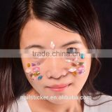 Custom festival high quality crystal self-adhesive face tattoo sticker glitter makeup rhinestone eye sticker
