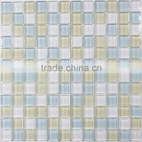 Glass Mosaic White and Blue for Kitchen Backsplash Bathroom Tile                                                                         Quality Choice