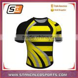 Stan Caleb 2016 Hot Tight Fit Sublimation rugby jersey popular rugby jersey factory in China
