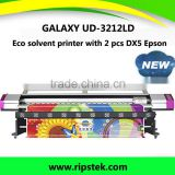 Galaxy Brand 3.2M UD-3212LD indoor and outdoor eco solvent printer with TWO DX5 Print head