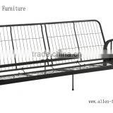 metal futon bad frame sofa bed full black