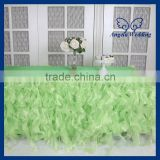 CL010F New color gorgeous fancy lime green curly willow table cloths