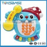 Battery operated kids' musical learning toy set,telephone model