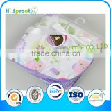 Cute Female Owl Light Purple Baby Blanket Cashmere and Fleece
