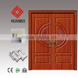2015 Cheap wood panel door wooden double decorative classic design doors with competitive price