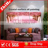 wholesale dropshipping landscape oil painting fabric painting designs scenery art wall party accessory other home decor type