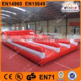 China WINSUN CE UL 10m long 3 racetrack inflatable bungee jumping run for sports competitions