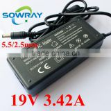 65W Charger Universal AC Adapter 19V 3.42A For Toshiba Laptop Accessorise Manufacture DC Jack 5.5mm 2.5mm