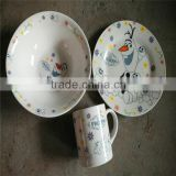 porcelain kids dinnerware set , porcelain childs dinnerware set , porcelain childrens dinnerware set