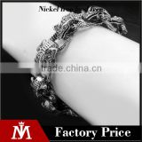 Men's lizard vintage gothic punk chain bracelet for