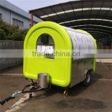 Moble hot dog bike trailer cart for sale, coffee house, round food cart manufacturer