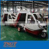 INquiry about semi-closed three wheeler electric cargo loader tricycle mini van truck with cabin