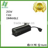 Hydroponic High Quality 250W Electronic Dimmable Ballast With Cooling Fan Original Manufacturer