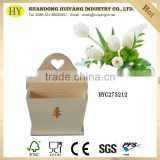 FSC unfinished pine wooden home shelf decoration