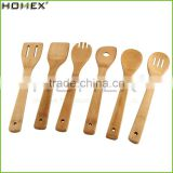 6 Pieces Kitchen Serving Tools Cooking Utensil Natural Wooden Bamboo Cooking & Serving Utensils