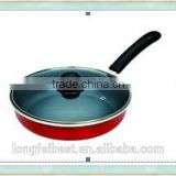 24cm Multi-purpose iron pot, iron pan with glue wood handle