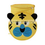 Pop up cartoon tiger mesh toy laundry hamper , the toy storage bin , tiger storage basket