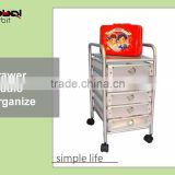 Hair Beauty Salon Workstation Tool Storage Drawer Cart Rolling Salon Trolley