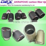 New style Akrapovic exhaust muffler tip Universal double end pipe carbon fiber universal exhaust tips