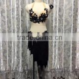 Women erotic black belly dance apparel for sale QQ067