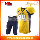 Hongen apparel Newest design sports wear custom American football jersey and team uniforms