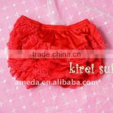 Chriatmas Baby Red Lace Petti Bloomers Panties Underwear