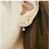 Fashion Jewelry Three Star crawler earring