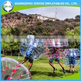 2016 High quality cheap PVC/TPU bubble football/soccer inflatable giant outdoor play ball for sale