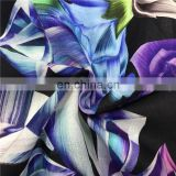 China Wholesale Natural Flower Print Satin Silk 100%Silk Crepe Satin Fabric