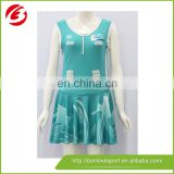 100% polyester sublimation printing netball jersey, netball dress