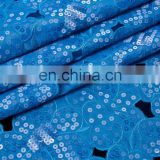 Tokay lace wholesale iridescent crystal organza lace fabric