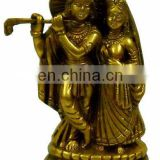 radha krishna brass statue unique antique finish idol