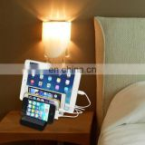Wholesale Newest 4 ports USB Charger Dock, Drop Shipping 5.1A Mobile Charger,phone charger,