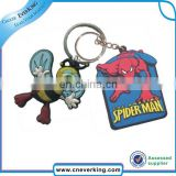 Soft pvc Material 2016 personalized cheap keychains, Mini Flashlight Led Torch Keyring with customized logo
