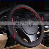 DIY Self Sew Genuine Leather Steering Wheel Cover 4 Colors For Selected