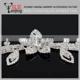 Professional Factory wholesale Crystal Clear Silver Beaded Rhinestone Applique Sewing Crafts