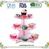 3Layer Paper Round Cup Cake Stand Cupcake Holder Wedding Birthday Party Decorations Events Dessert Sugarcrafts Display Stands