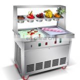 Best Selling New Condition 2 pan durable fry ice cream machine Fried Ice Cream Machine Ice Cream Roll Machine