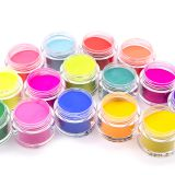 Easy soak off no need lamp Glitter Pigment Nail Art Decoration UV Gel Polish Glazed Color Dipping Powder